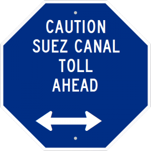caution suez canal toll ahead