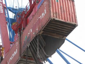 torn container